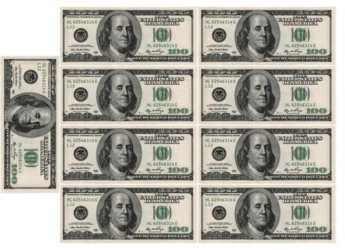 фото доллара для печати подобранный цвет